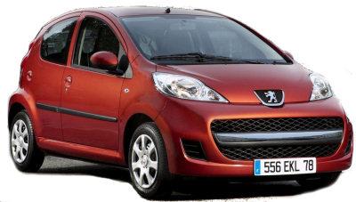 Présentation de la version restylée de la Peugeot 107 (millésime 2009).